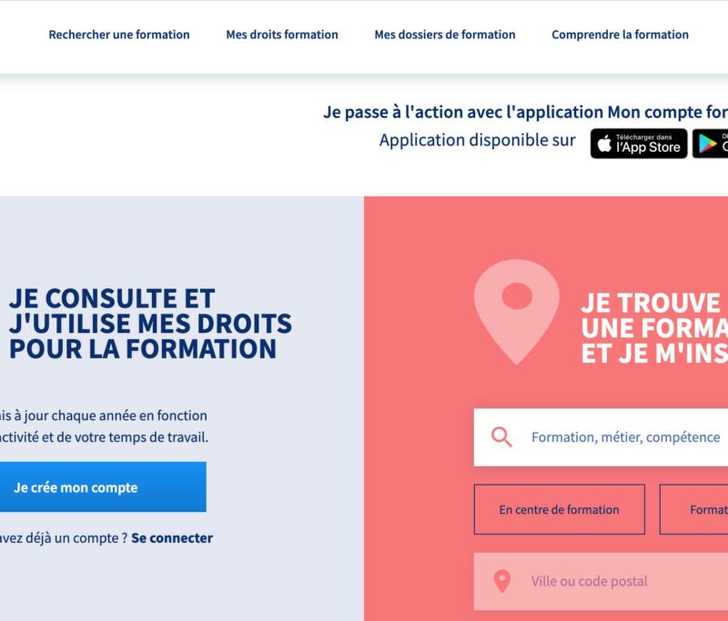 Tests utilisateurs du site et de l'application « Mon Compte Formation »