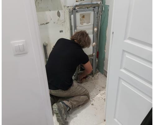 Étude de terrain pour la conception de WC suspendus